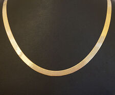 """9ct Yellow Gold 18"""" Fancy Herringbone Chain / Necklace 5mm Link"""