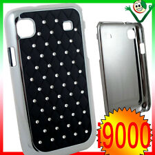 Custodia BRILLANTINI per Samsung Galaxy S i9000 i9001 plus back cover LUCE NERA