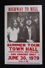 AC/DC Tour Poster Highway to hell 1979 New Zealand