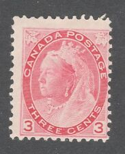 CANADA STAMP #78  --- 3c QUEEN - 1898 - UNUSED