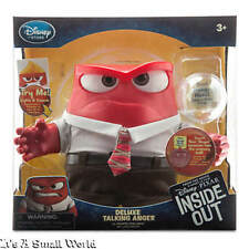 "Disney Store Pixar Anger Deluxe Talking Doll Glow Inside Out 6"" H Light Up NIB"