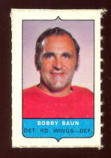 1969-70 OPC O-PEE-CHEE MINI 4 in1 BOBBY BAUN RED WINGS EX-NM CARD STAMP Sticker