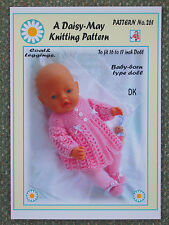 DOLLS KNITTING PATTERN no. 261 for BABYBORN.by Val Young.