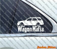 Lowered WAGON MAFIA sticker - for Toyota Corolla wagon 1998-1999 (E110) bug eye
