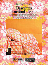 PUBLICITE ADVERTISING 064  1969  DESCAMPS   draps TERGAL