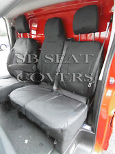 RENAULT TRAFIC SPORTIVE 2015 VAN SEAT COVERS BLACK WATERPROOF MADE TO MEASURE