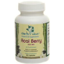 ACAI BERRY 4:1 EXTRACT 500 mg POTENT Antioxidant 60 Caps Free Shipping!
