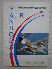 BULLETIN ANSORAA MAIL N°5 1980 SOUS OFFICIERS RESERVE ARMEE AIR