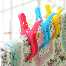 Pro 4Pc Big Beach Towel Laundry Wash Line Hanging Clips Pegs Spring Clothes Pins