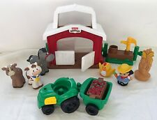 Little People Discovering Animals Farm Playset Farmer Tractor Corn �� �� Pump