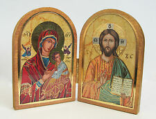 Diptych Folding/standing Icon Jesus Mary