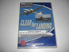 CLEAR FOR LANDING Pc Cd Rom Add-On Flight Simulator Sim 2004 X FSX FS2004 - NEW