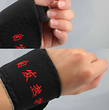 Pair of Tourmaline Wrist Supports, Self Heating, Magnetic, UK Seller, BNWT