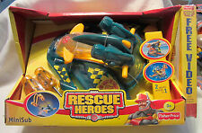 Rescue Heros Mini Sub 2-in-1 Aquatic Vehicle and Free Video Fisher Price NEW