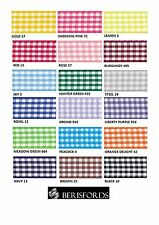 BERISFORDS GINGHAM CHECK RIBBON 25MM WIDE 18 COLOURS - CUT METRES OR FULL ROLL
