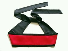 New Reversible Black Red Satin Obi Sash Belt Wrap Tie Belt Colour Choice