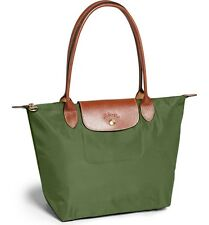 NIP $125 Longchamp Le Pliage Medium Nylon Tote! khaki