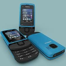 Nokia C2-05 slide phone new other in PEACOCK BLUE open all networks