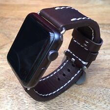 100% High Quality Brown Leather Watch Strap  Band for Apple Watch Iwatch 42mm