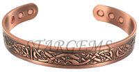 MENS BIO MAGNETIC CELTIC COPPER TORQUE BANGLE/BRACELET ARTHRITIS/PAIN RELIEF