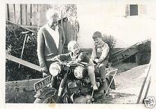 Nr4131 privat Foto Kinder auf Puch Motorrad Oldtimer