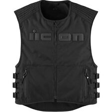 Icon Brigand Textile Street Motorcycle Vest w/Spine Armor LRG-XL Stealth
