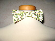 NEW COOL Boys Cream Green Gold Red Christmas Lads Elastic  Bow Tie Party Gift