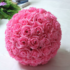 6 inches Hot Pink Rose Flower Pomander Wedding decoratin Ball Kissing Ball