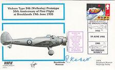 VAFA 01 Vickers Type 246 ( Wellesley) Prototype Pilot Signed