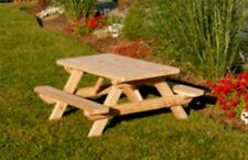 Kids & Childrens Cedar Picnic Table *UNFINISHED CEDAR* Amish Made USA