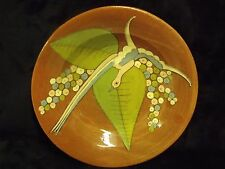 """ANTIQUE HALLMARKED CHINESE 9"""" GLAZED RED CLAY BIRD OF PARADISE BOWL"""