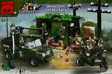 Enlighten Brick #809 Detection of Military 285 Pieces  Compatible Bricks