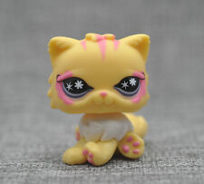 Yellow Rainbow Persian Postcard Cat Kitten Littlest Pet Shop LPS Auction Figure