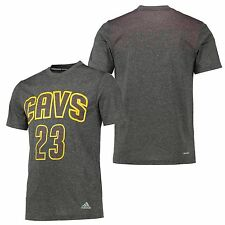 Adults Small Cleveland Cavaliers adidas Surface Player T-Shirt LeBron James EB98