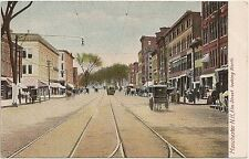 Elm Street Looking North in Manchester NH Postcard