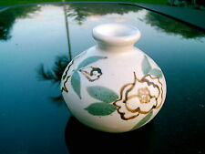 """PASKAL POTTERY 3"""" SMALL POTTERY VASE FLORAL PAINTED  ACCENT  TAKE A LOOK!"""