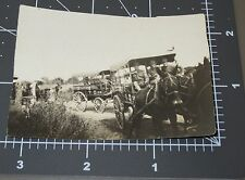 WWI Medical Wagon Doctor Supply Soldiers Horse Red Cross Men Army Snapshot PHOTO