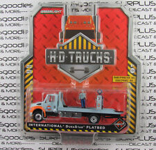 GREENLIGHT 1:64 S6 GULF H-D HD Trucks INTERNATIONAL DuraStar Flatbed Tow Truck