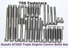 Suzuki GT550/GT 550 Triple - Engine Cover Bolts Set - S/S