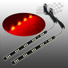 2 x SMD/LED RED BRAKE STOP TAIL LIGHT FLEXABLE STRIP LIGHT IDEAL FOR MOTOR BIKES