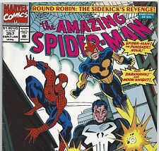 The Amazing Spider-Man #357 The PUNISHER & NOVA from Jan. 1992 in Fine con, DM