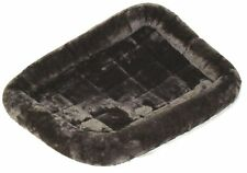Gray Bolster Pet Bed for Dogs & Cats - fits 42 inch - Plush Soft Synthetic Fur