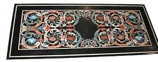 2.5'x5' Marble Dining Table Mosaic Inlay Pietradure Marquetry Decor Furniture