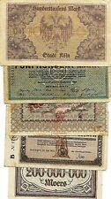 BILLETS - Lot 5 Billets Allemagne (8517 M)