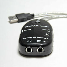 Electric Guitar Link to USB Interface Cable for MAC/PC MP3 Recording Adapter