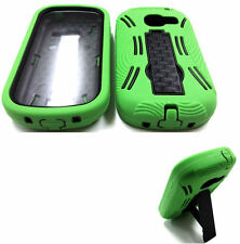 Built-in Screen Green on Black Armor Case For SAMSUNG Galaxy Centura SCH-S738C