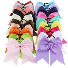 20PCS Baby/Girls Ribbon Handmade 8 inch Butterfly Big Hair Bow Elastic Bobbles