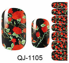 Flower 3D Design Nail Art Water Transfer Decal DIY Manicure Tips Sticker