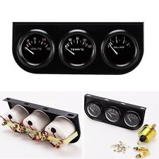 52mm Triple kit Car Oil Temp Gauge + Water Temp Gauge + Temperature Oil Pressure