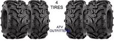 SET OF 4 VEE RUBBER  ATV TIRES 25x8-12 FRONT & 25x10-12 REAR 2 OF EACH SIZE NEW